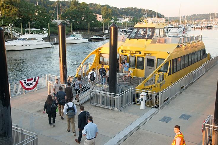 Glen Cove Ferry Service Day 1 - first ferry.jpg
